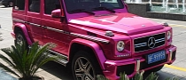 Mercedes G63 AMG Pink Chrome Wrap in China