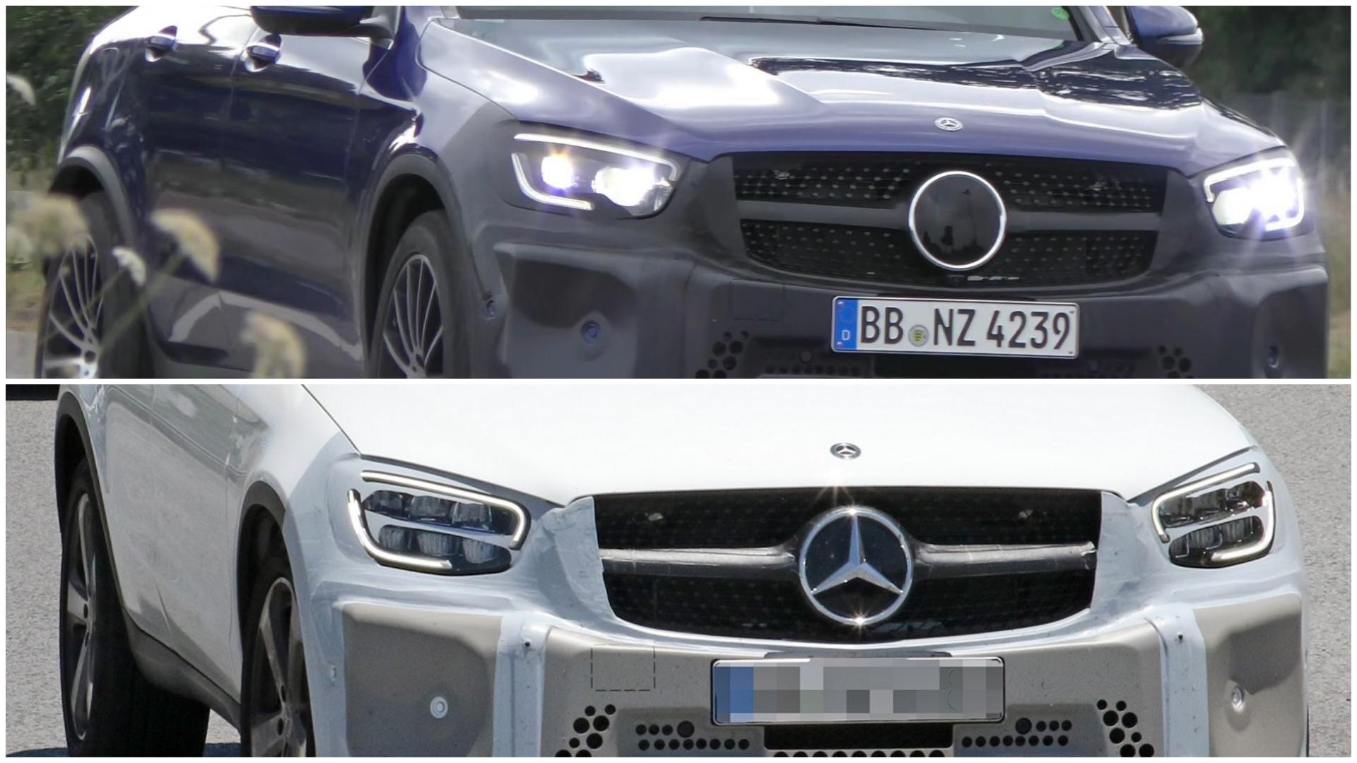Mercedes Glc Coupe Facelift Shows Two Headlight Designs Autoevolution