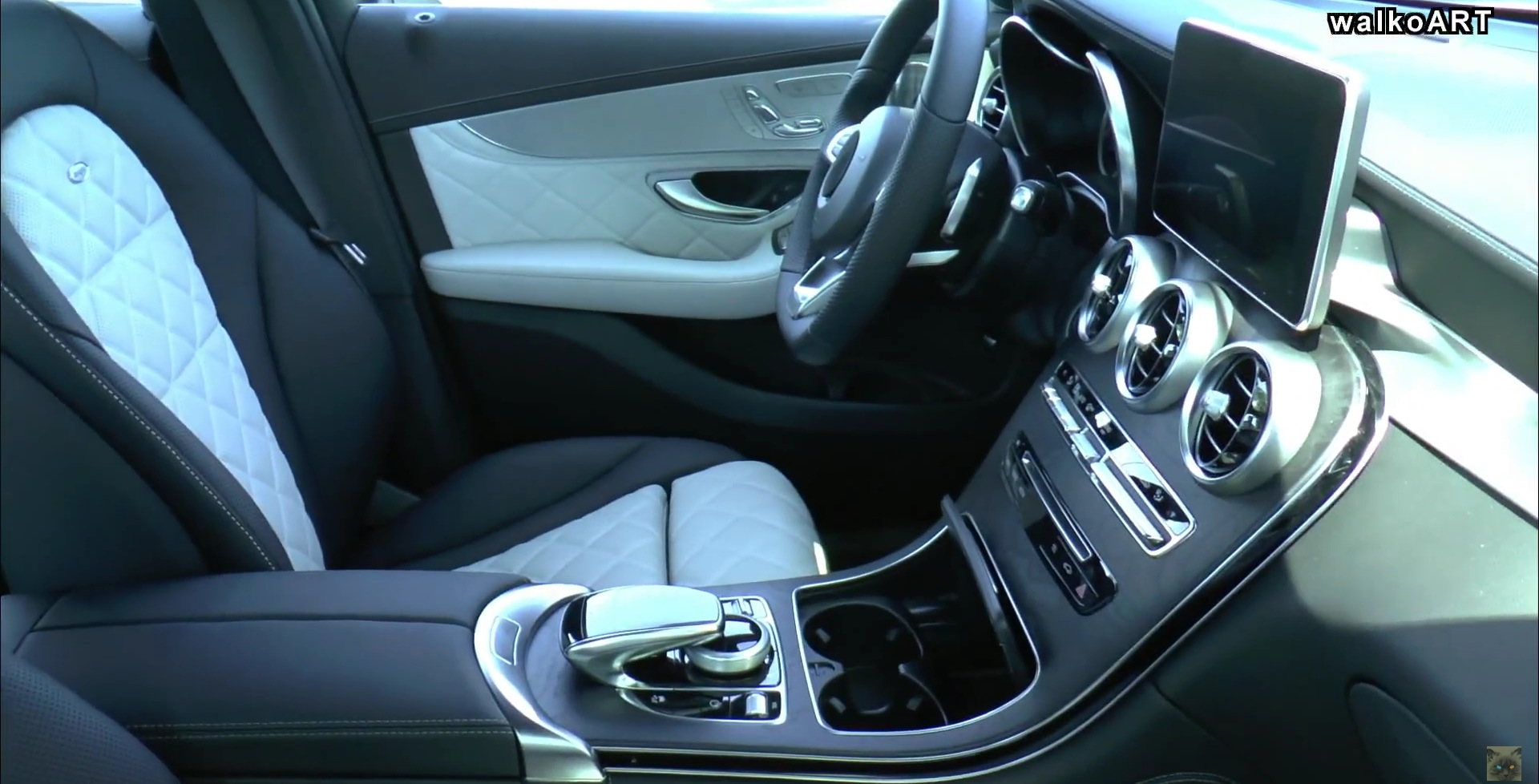 glc interior to look like as you can see there will be multiple options for the centre stack though you can also see the quilting on the seats and the