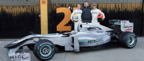 Mercedes GP Reveal W01 Design in Valencia