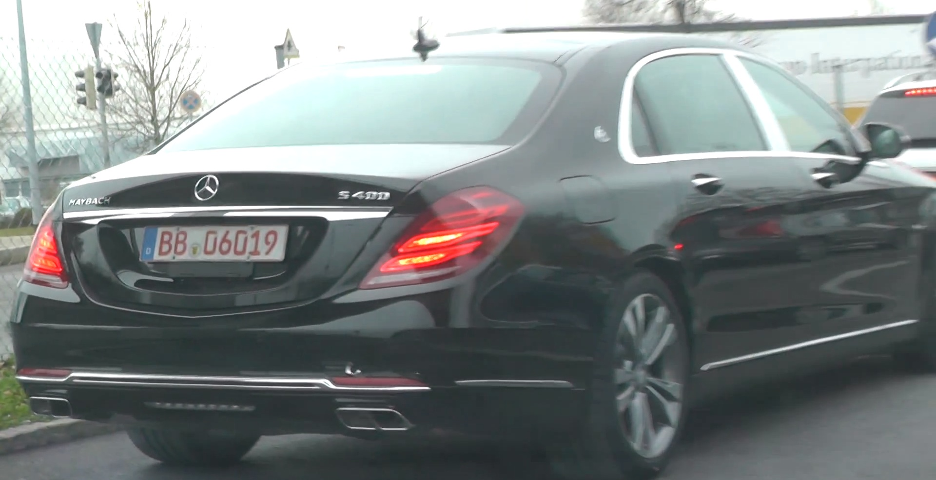 mercedes-maybach s400 spotted testing v6 engine in stuttgart