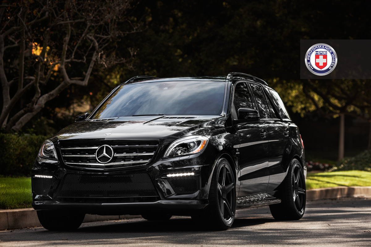 mercedes ml63 amg on hre wheels. Black Bedroom Furniture Sets. Home Design Ideas