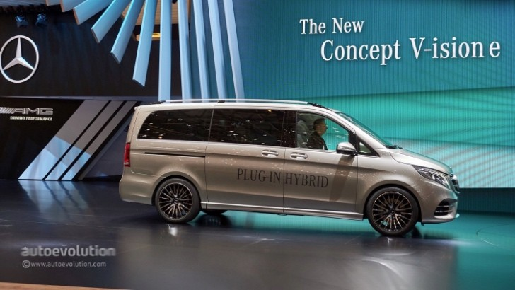 Mercedes Previews V Cl Plug In Hybrid Van Revolution Geneva Autoevolution
