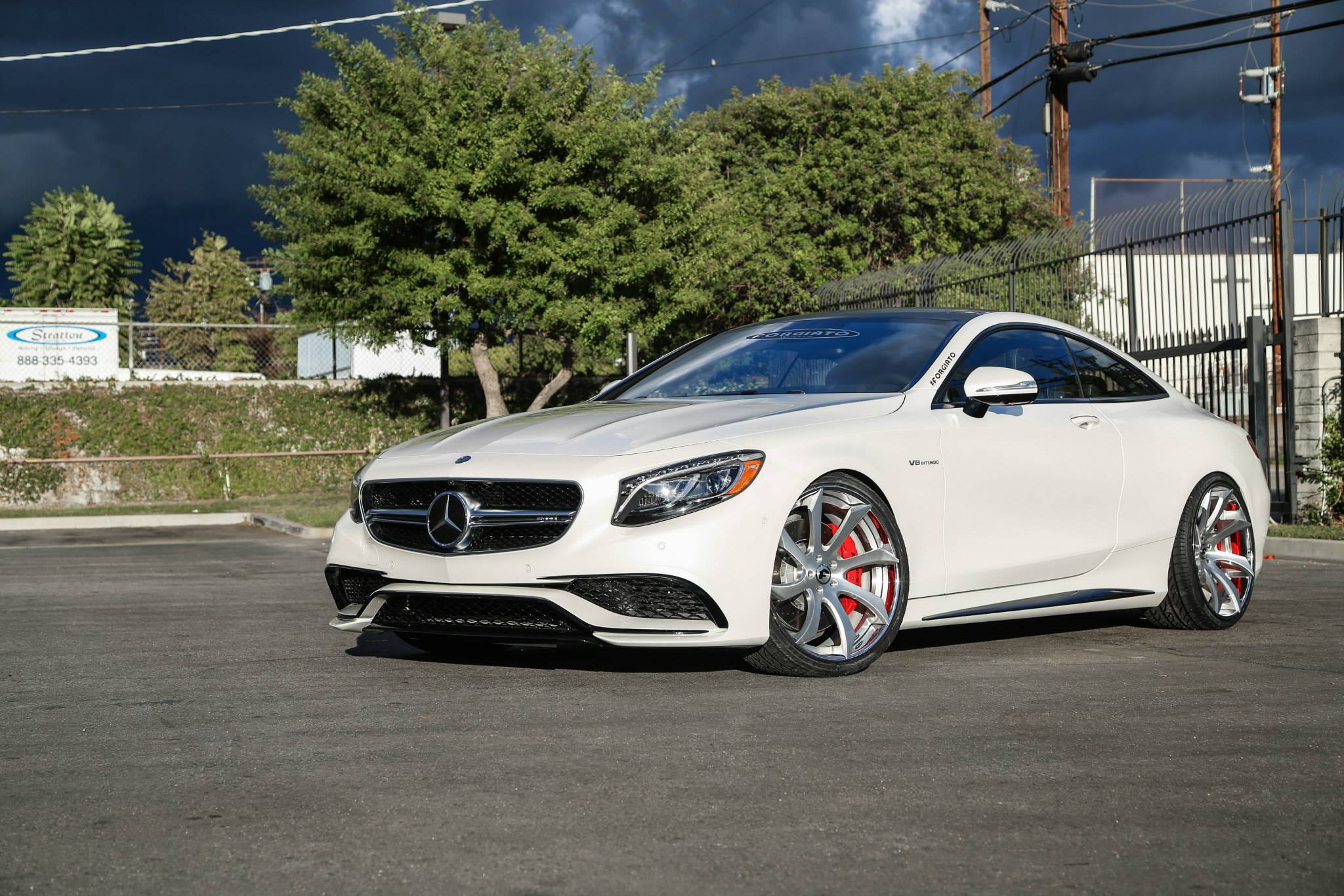 Mercedes s63 amg coupe on forgiato fondare wheels for Amg wheels for mercedes benz