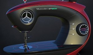 Mercedes Sewing Machine is a Modern Version of Something Classic