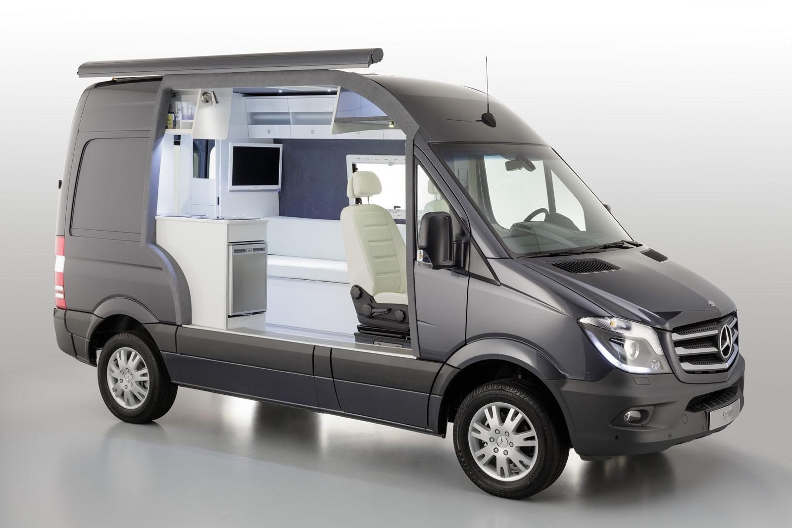 Mercedes Showcases Sprinter Caravan Cut-Away - autoevolution