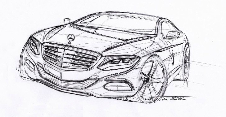 Mercedes Shows 2014 S-Class Coupe Sketch