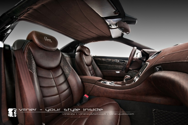 Mercedes Sl Interior Enhanced With Crocodile Leather Autoevolution