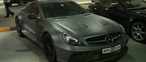 Mercedes SL65 AMG Black Series Turns Matte Grey [Video]