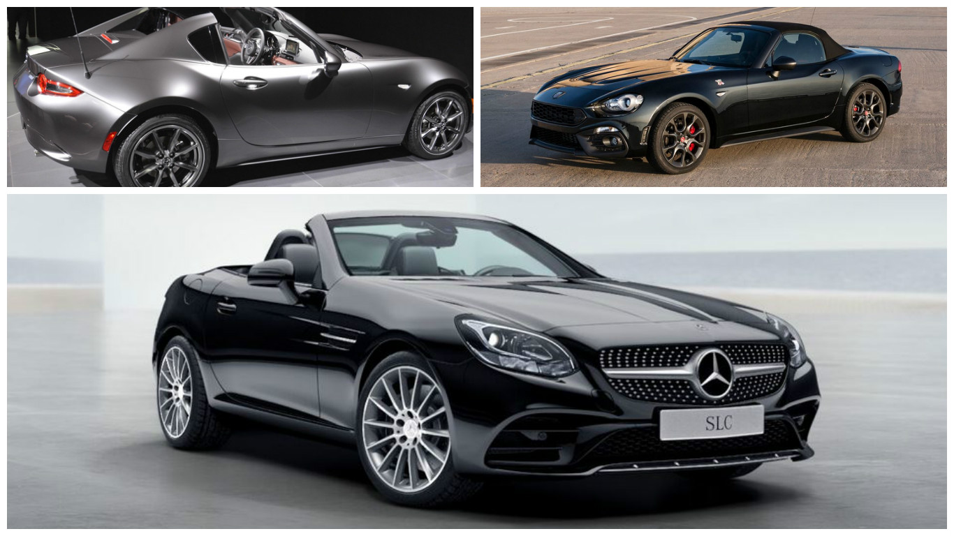 mercedes slc 180 said to compete with mx 5 rf and abarth 124 spider in the uk autoevolution. Black Bedroom Furniture Sets. Home Design Ideas