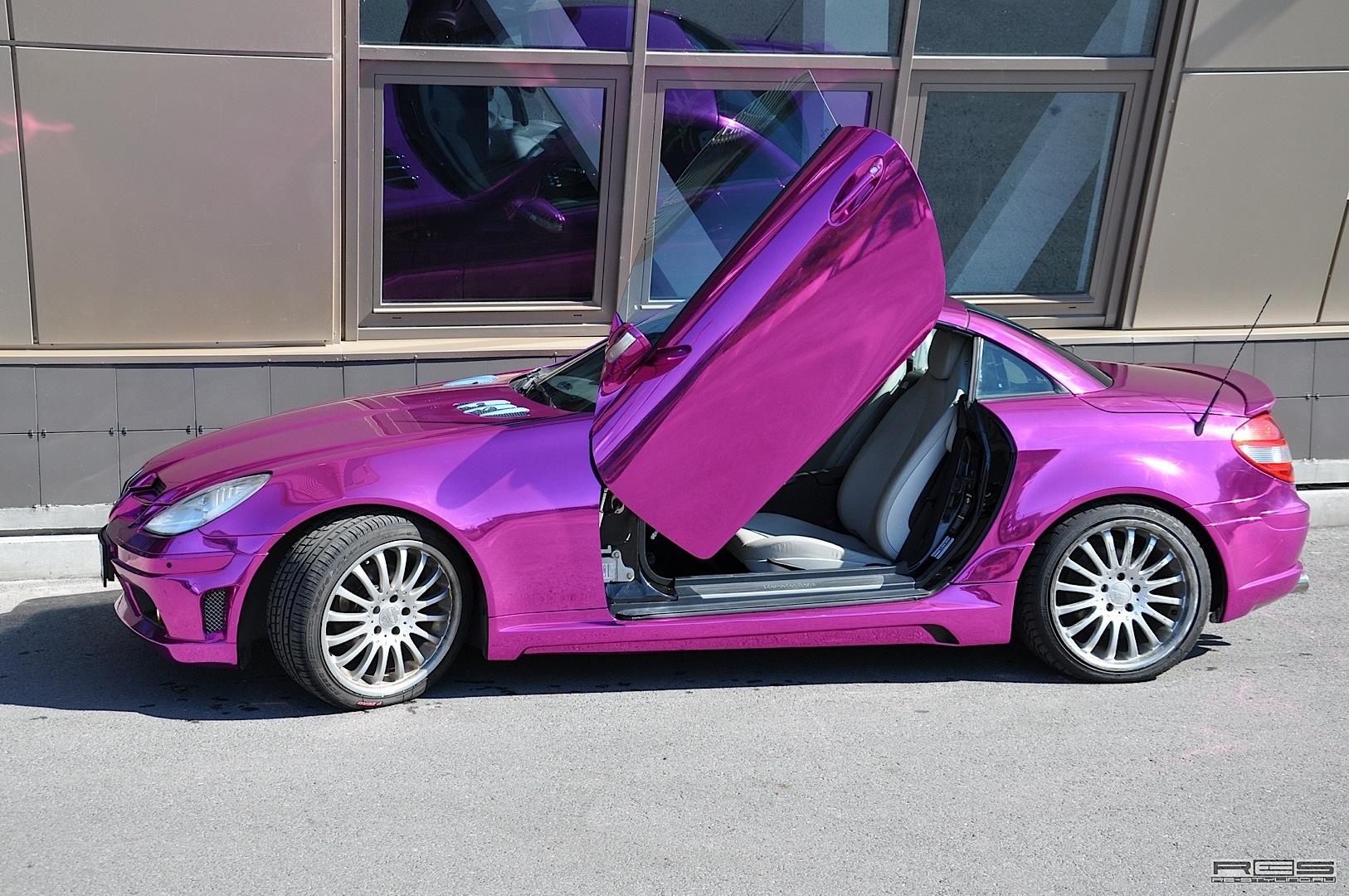 Mercedes Slk In Purple Chrome Autoevolution