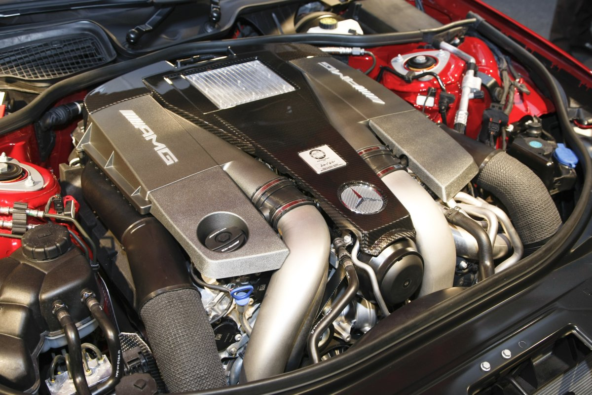 AMG's 5.5-liter V8 biturbo engine