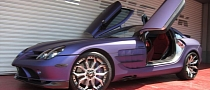 Mercedes SLR Gets Forgiato Wheels and Purple Wrap [Photo Gallery]