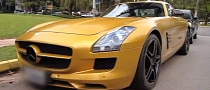 Mercedes SLS AMG Dressed in Desert Gold [Video]