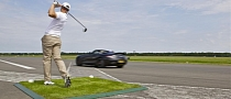 Mercedes SLS AMG Roadster Driven by David Coulthard: World Record for Golf Ball Catch