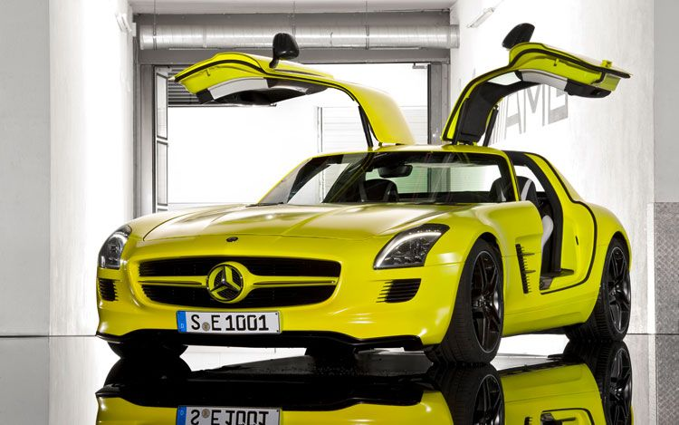 Mercedes SLS AMG ECell Prototype Previewed  autoevolution