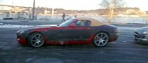 Mercedes SLS AMG Roadster Caught Naked