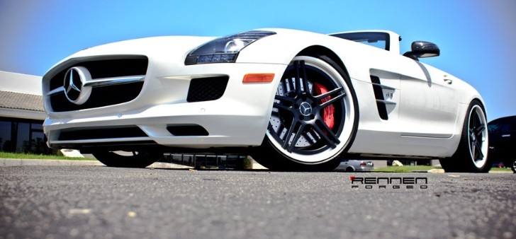 Mercedes SLS AMG Roadster Gets Rennen Wheels [Photo Gallery]