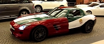 Mercedes SLS AMG Wrapped in UAE National Flag [Video]