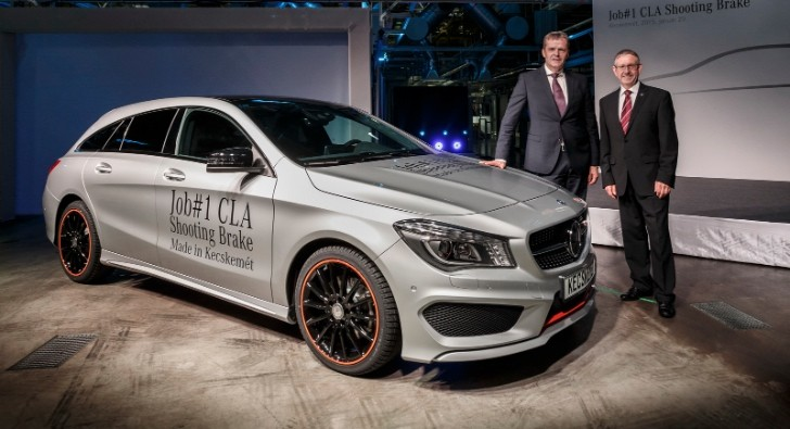 Mercedes starts cla shooting brake production in hungary for Compact mercedes benz crossword