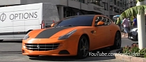 Metallic Orange Ferrari FF Parking Like a Boss [Video]