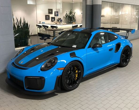 Mexico Blue 2018 Porsche 911 Gt2 Rs With Matching Interior