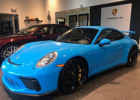 Mexico Blue 2018 Porsche 911 GT3 Is a Track Toy with a Manual ... on new blue chevrolet, new blue vw, new blue kia, new blue volvo, new blue mustang, new blue camaro, new blue bmw, new blue subaru, new blue tesla, new blue ferrari, new blue corvette z06,