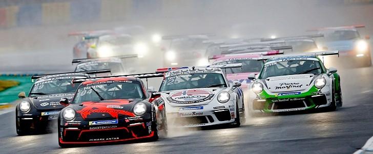 Michael Fassbender's Porsche Cup Outing Was a Workout for Le Mans Big League
