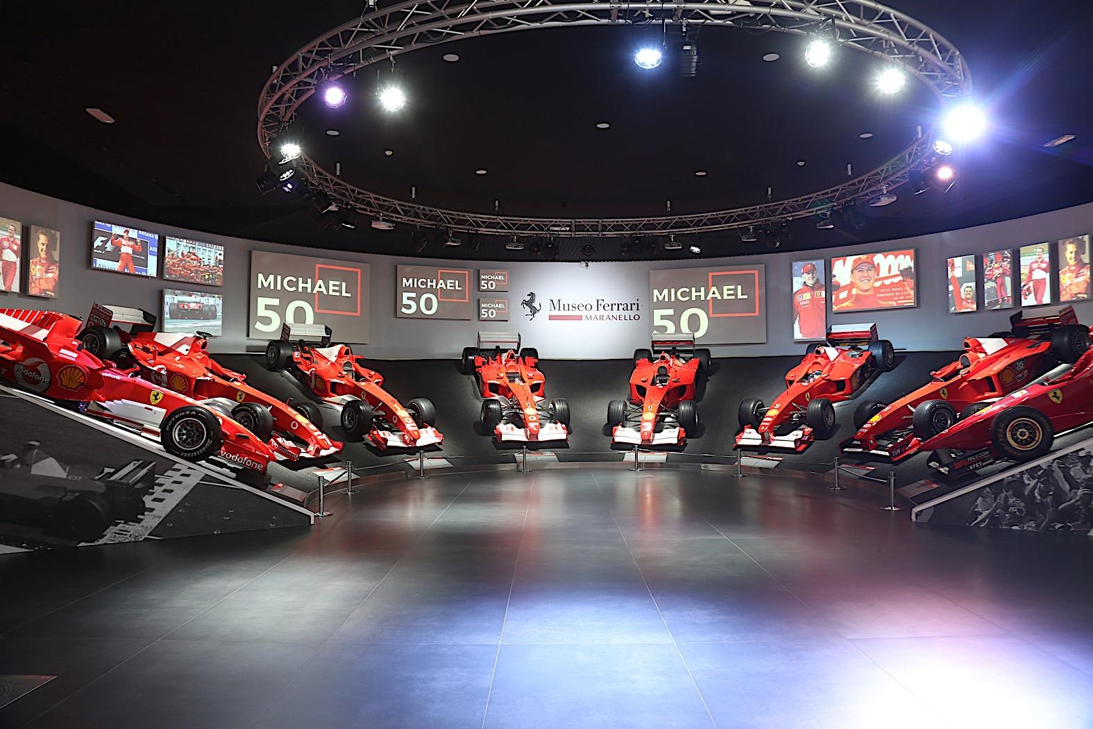 The 'Michael 50' Exhibit at the Ferrari Museum