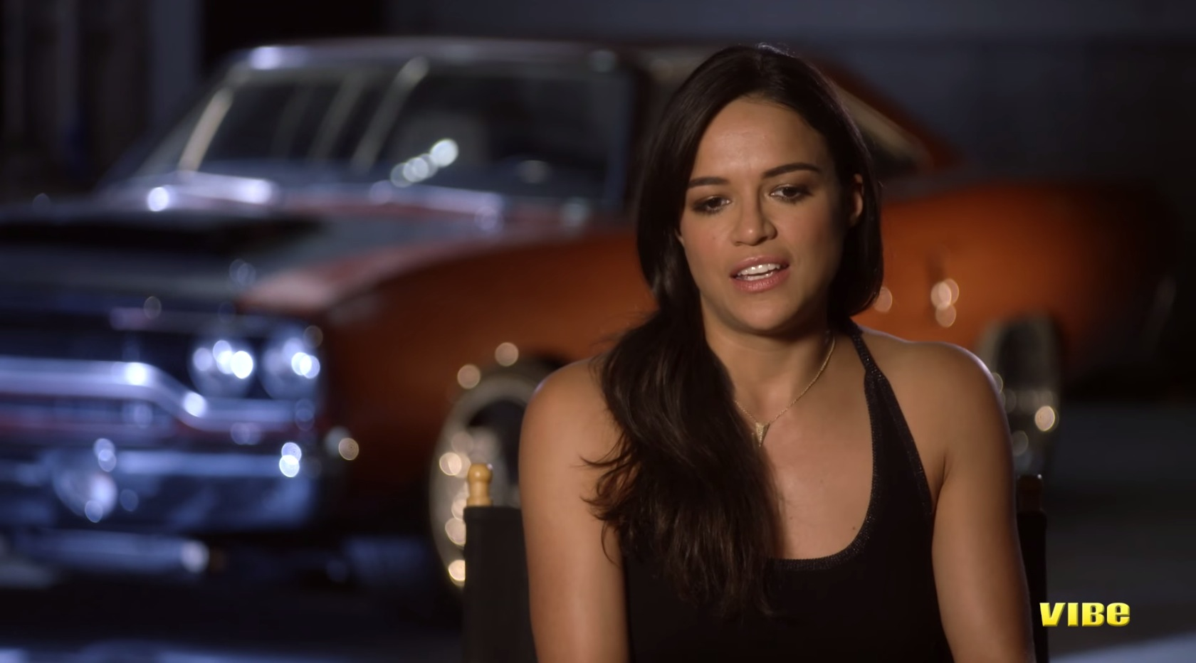 michelle rodriguez talks about furious 7 and her car. Black Bedroom Furniture Sets. Home Design Ideas