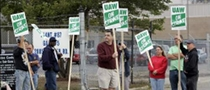 Michigan UAW Supporters Protest against Detroit 3 Wage Cut