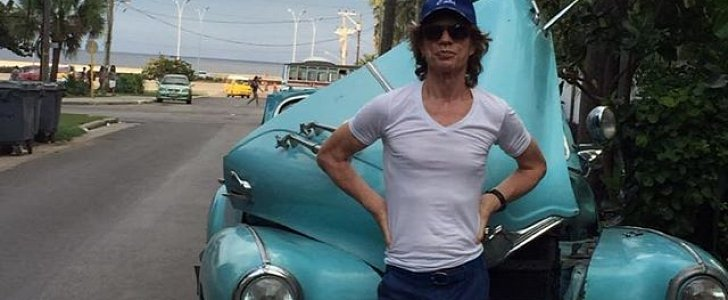 Mick Jagger Clearly Is Not Driving A Brand New Car In Cuba