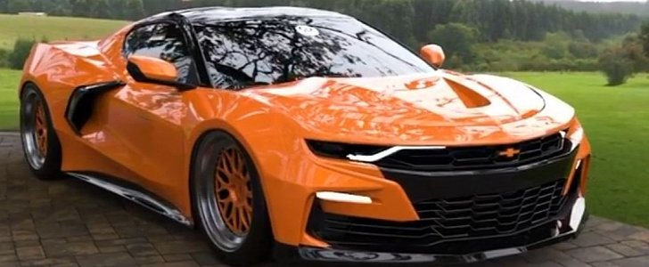 Mid-Engined Chevy Camaro Gives Off BMW Hybrid Vibes ...