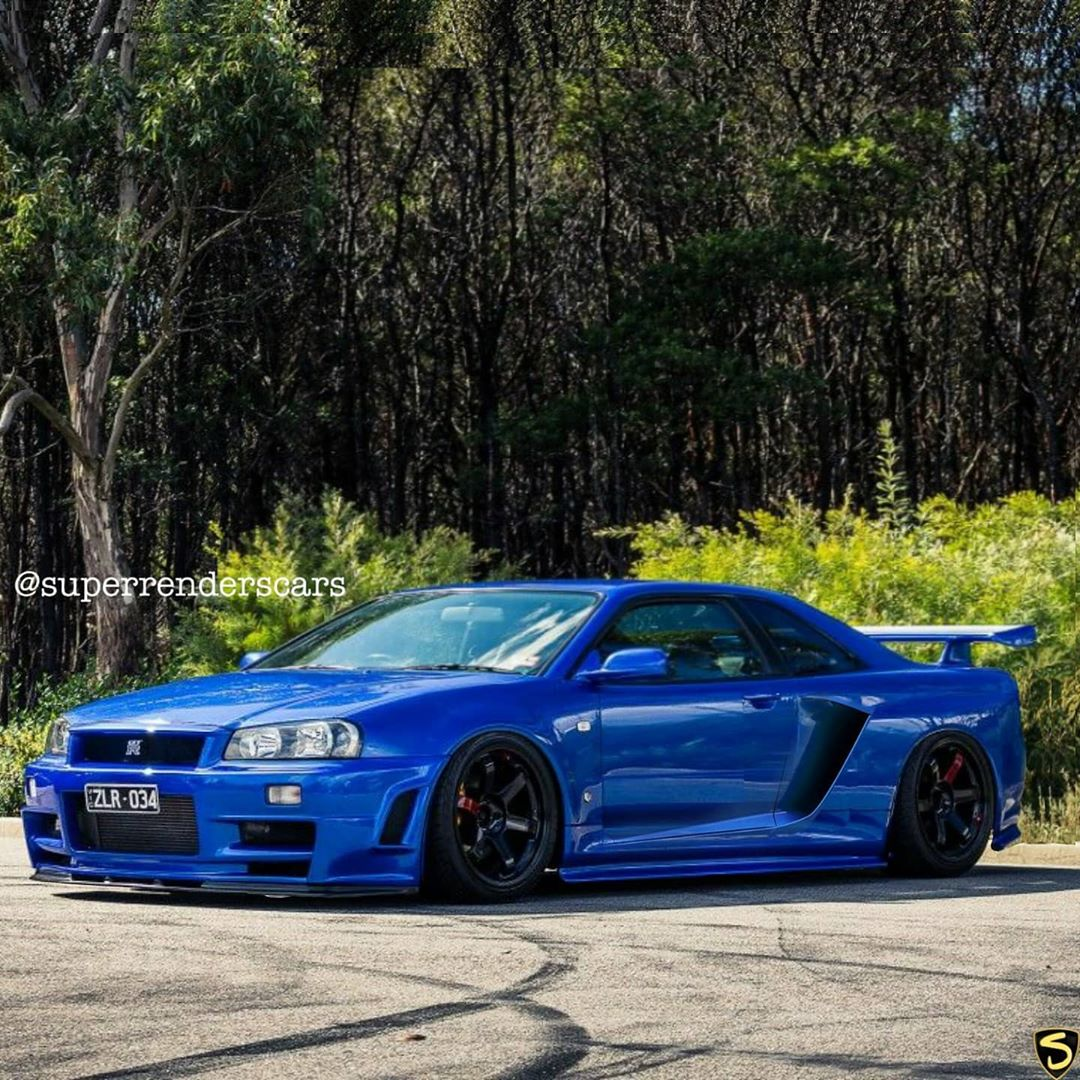 Mid-Engined R34 Skyline GT-R Rendering Almost Looks Like A