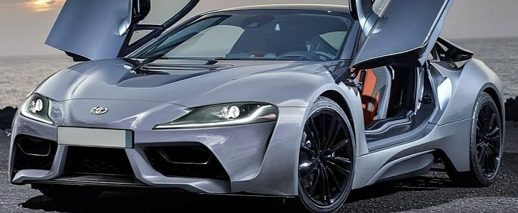 Mid-Engined Toyota Supra Impersonates a BMW i8 in Rendering thumbnail