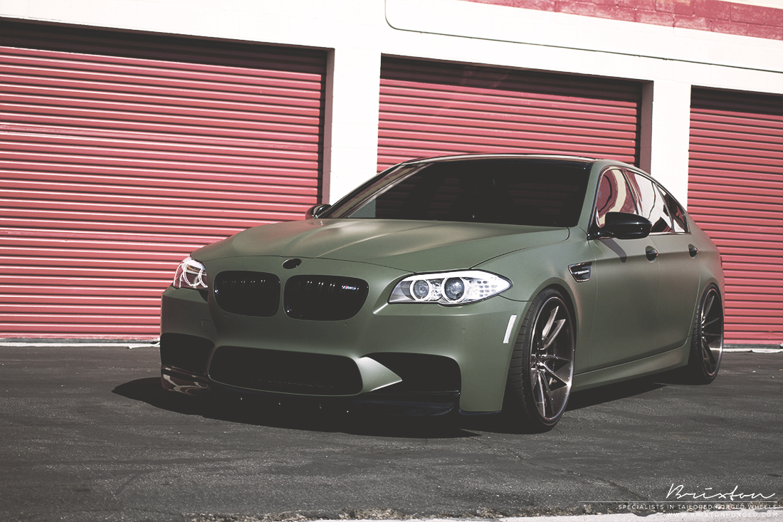 17 Photos. Army Green BMW ...