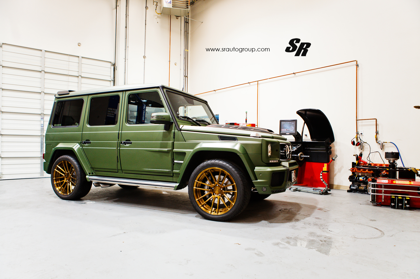 Military Green G 63 Amg With Unassorted Wheels Autoevolution
