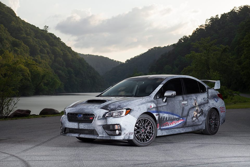 Military Themed Subaru Wrx Sti Gets Wwii Shark Teeth