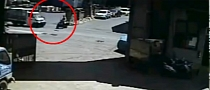 Mindless Scooter Driver Hit by Truck [Video]