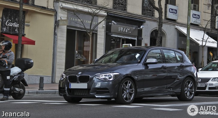 Mineral Grey BMW F21 M135i Spotted in Madrid