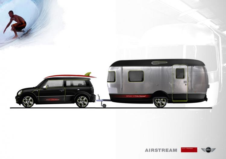 Mini Cooper S Clubman and Airstream Trailer Concept