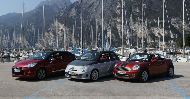 MINI Cooper Convertible vs Abarth 595C vs Citroen DS3 Comparison Test