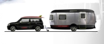 Mini Cooper S Clubman and Airstream Trailer Concept