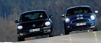 MINI Cooper S Coupe Vs VW Beetle Sport by SportAuto.de