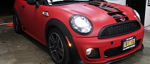 MINI Roadster JCW Custom Matte Red Wrap [Video]