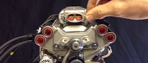 Miniature 45cc Model V8 With Fuel Injection: Art and Engineering [Video]