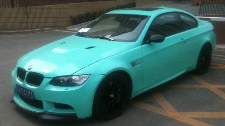 Mint Green BMW E92 M3 Spotted in China