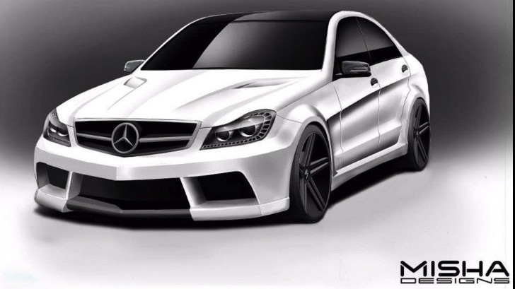 Misha Designs Previews Mercedes C-Class Wide Body Kit