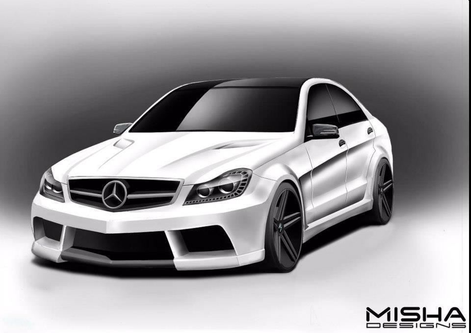 Misha designs previews mercedes c class wide body kit for Mercedes benz c class body kit