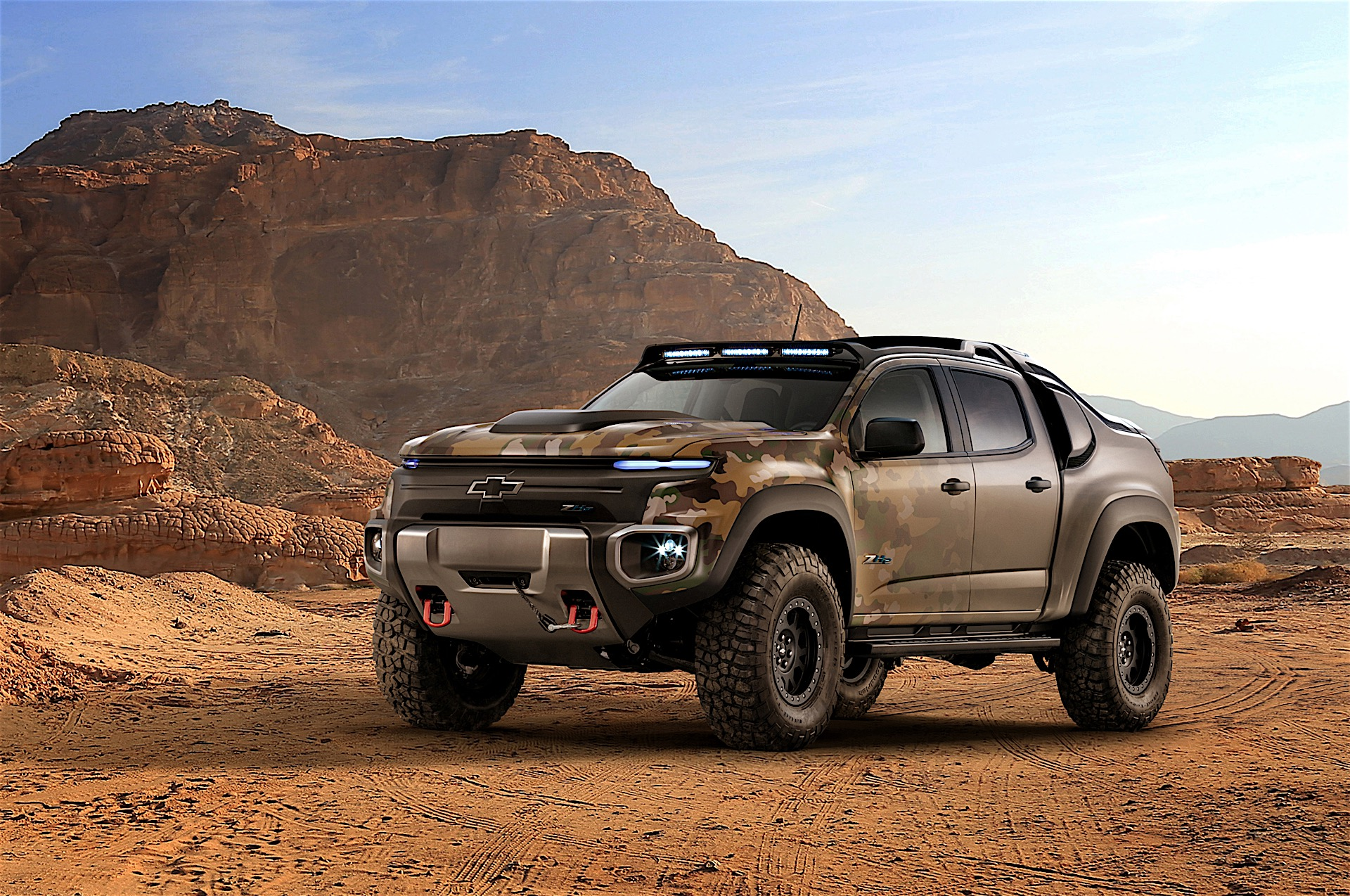 chevrolet has made a hydrogen fuel cell pickup truck for the u s army autoevolution. Black Bedroom Furniture Sets. Home Design Ideas